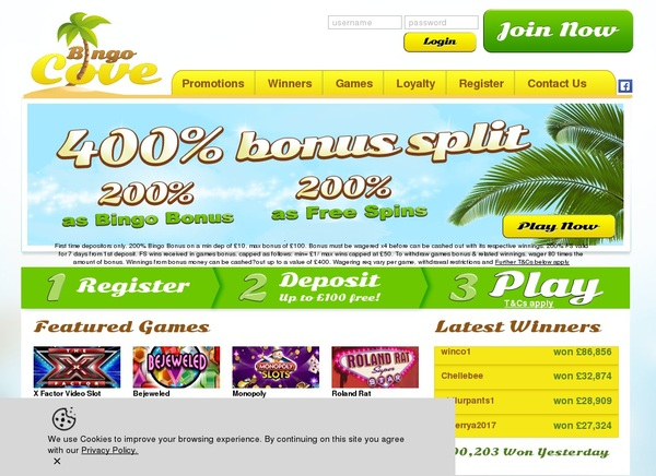 Bingo Cove Pay By Mobile