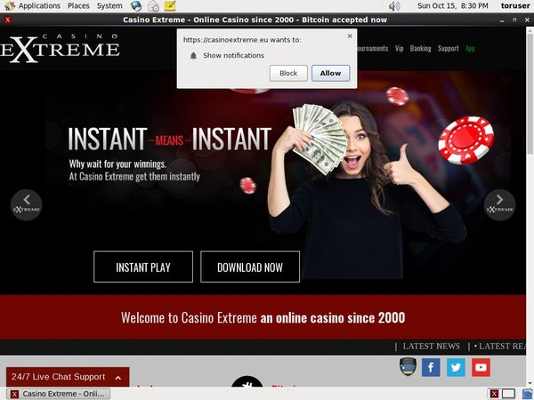 Casinoextreme Register