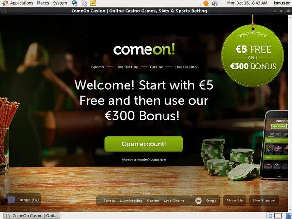 Comeon Use Paypal