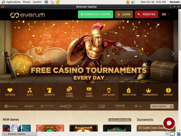 Everumcasino Free Chip