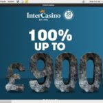 Intercasino Register Form