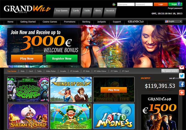 Login To Grand Wild Casino