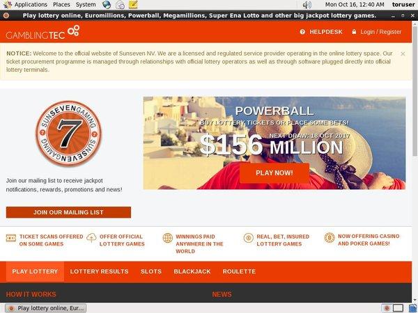 Roulette Sun 7 Lottery