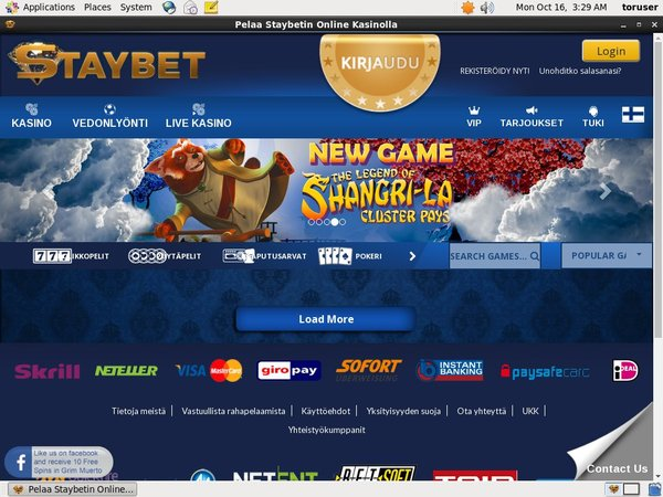 Staybet Use Paypal