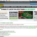 Strikeitluckycasino New Account Promo