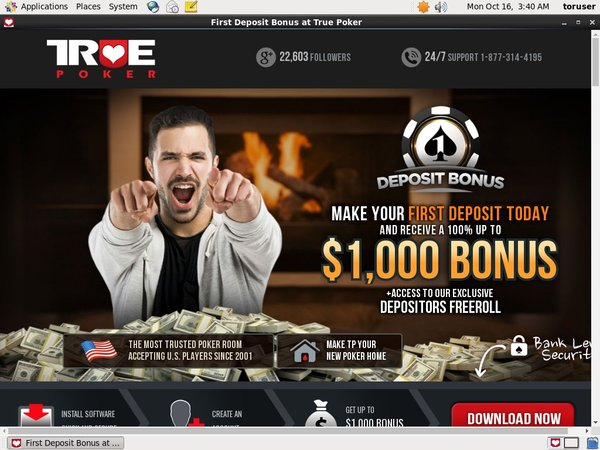 True Poker Freerolls