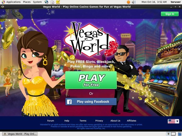 Vegas World Free Spins Code