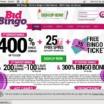 Welcome Offer Bid Bingo