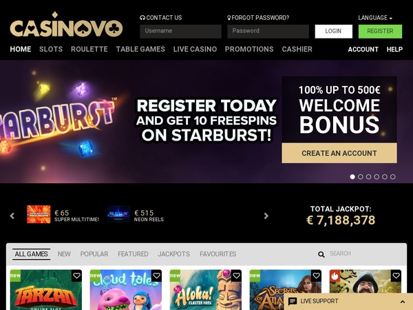 Free Casinovo Bet