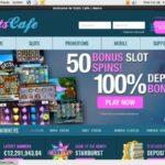 Slots Cafe Deposit Page