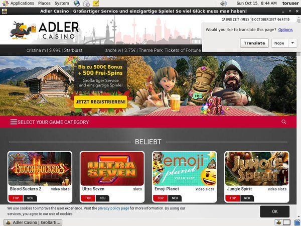 Adler Casino Mobile Login