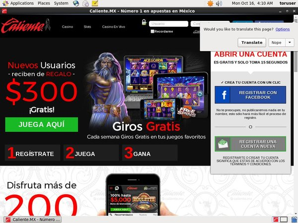 Caliente Casino Free Bet Terms