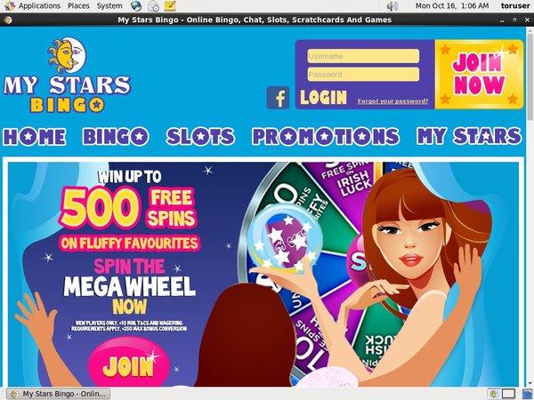 Signup Bonus My Stars Bingo