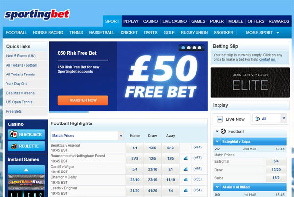 Sporting Bet UK Bonus Slots