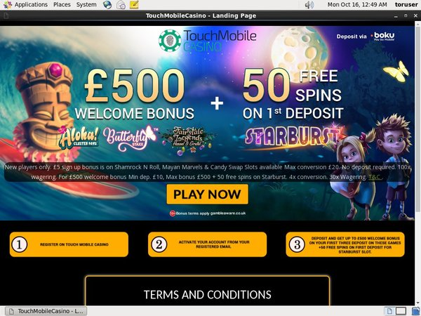 Touch Mobile Online Casino Jackpot