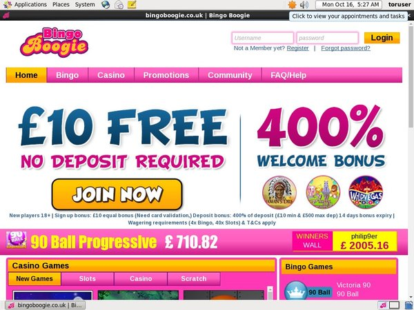 Bingo Boogie Welcome Promo
