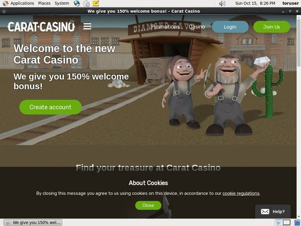 Caratcasino Sign Up Offer