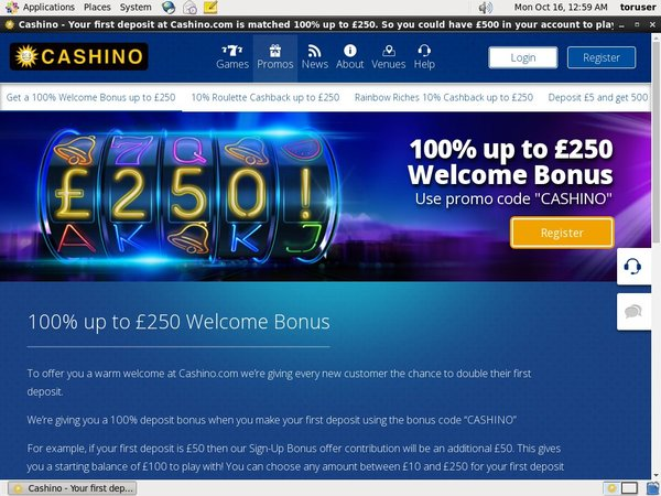Cashino Extra Bonus
