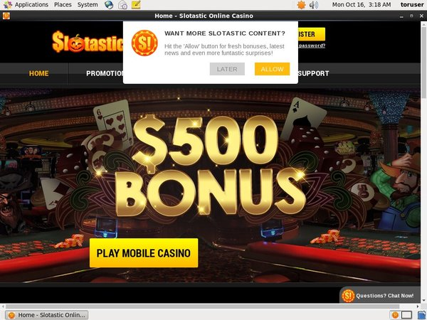 Slotastic! Casino Login