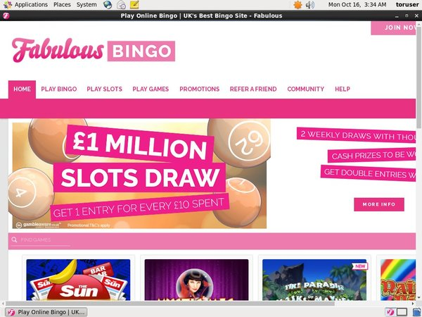 Fabulous Bingo Promotion