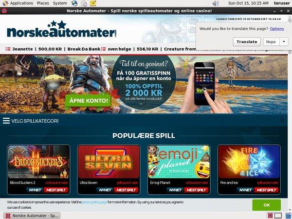 Norskeautomater Bonus Promotions