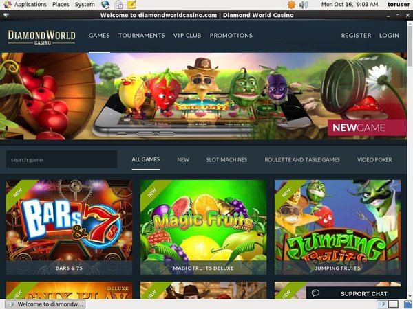 Diamond World Casino Full Site
