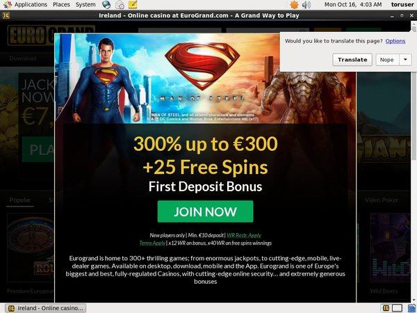 EuroGrand Using Paypal