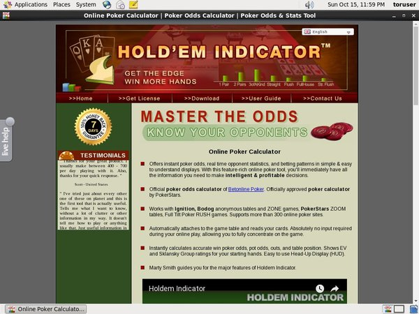Holdem Indicator New Customer Offer
