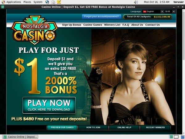 Nostalgia Casino Internet Casino