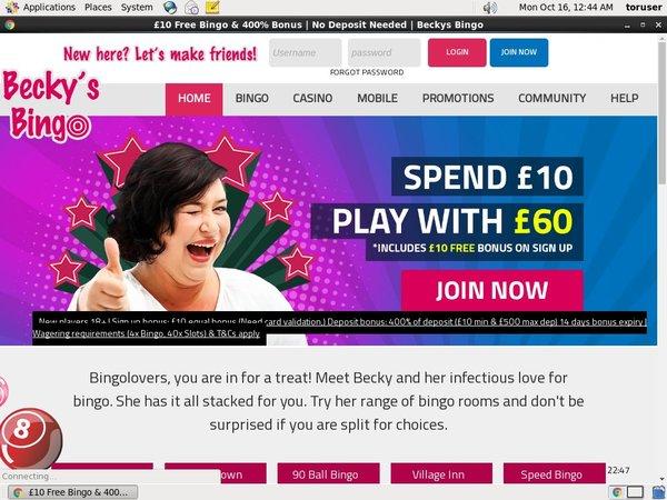 Beckysbingo Free Slots