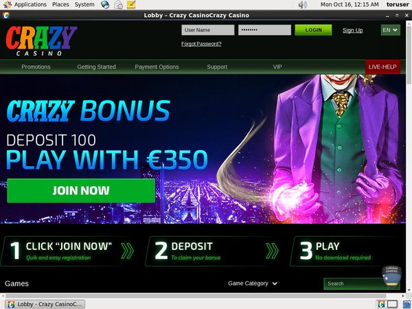 Crazy Casino Loyalty Program