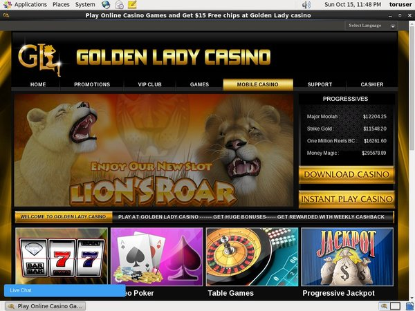 Golden Lady Casino Mobile Poker