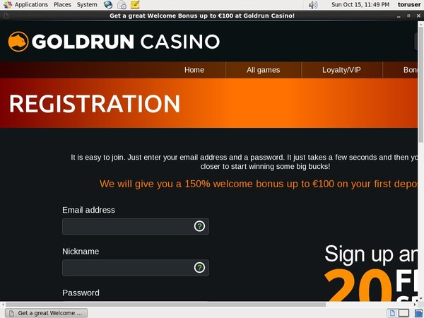Free Goldrun Spins