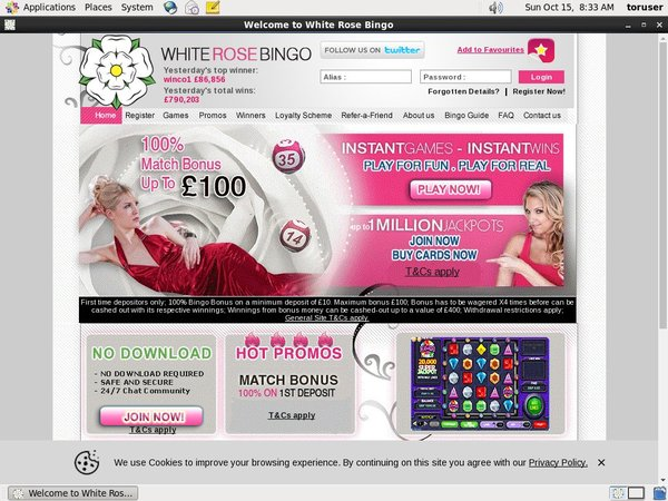 White Rose Bingo Iphone