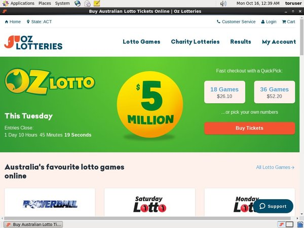 Ozlotteries How To Sign Up