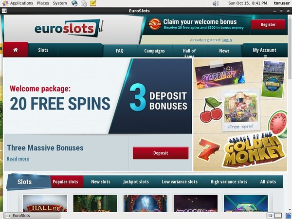 Sign Up For Euroslots