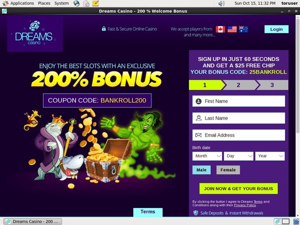 Dreamscasino Play For Free