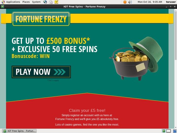 Fortune Frenzy Bonus Terms