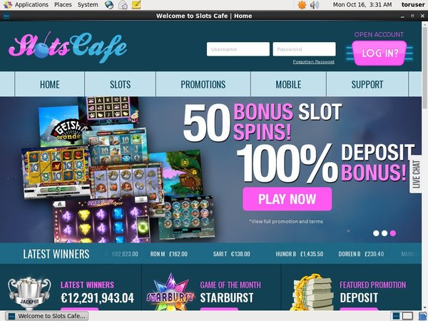 Slots Cafe Top Gambling Websites