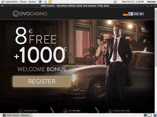 No Deposit Bonus Ovocasino