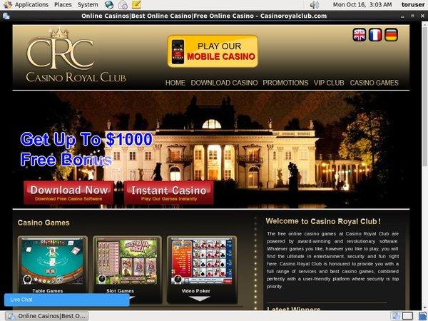 Casinoroyalclub Payment Methods
