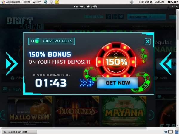 Drift Casino Signup Bonus