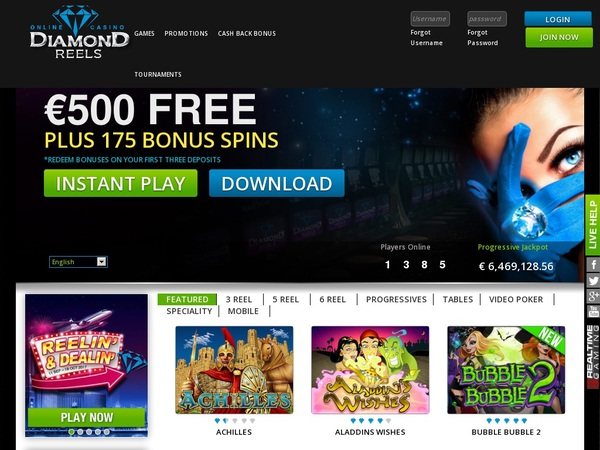 Diamond Reels Casino Playtech