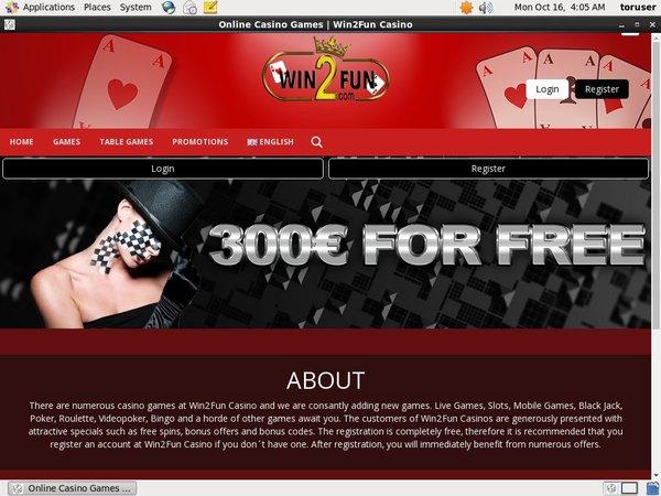 Win 2 Fun Bonus Ohne Einzahlung