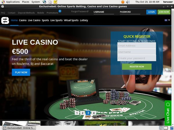 Live Roulette Exclusivebet