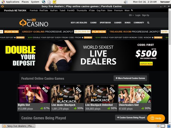 Porn Hub Casino Register Bonus