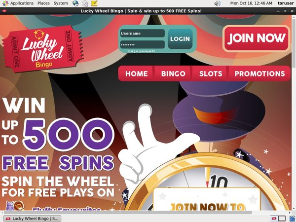 Lucky Wheel Bingo Bonus Code Offer