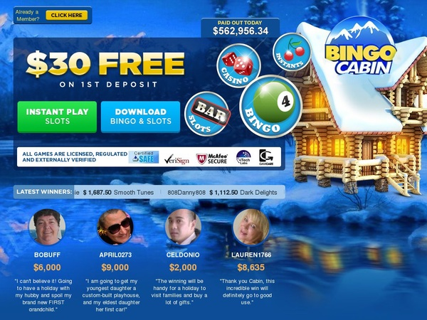 New Bingo Cabin Promotions