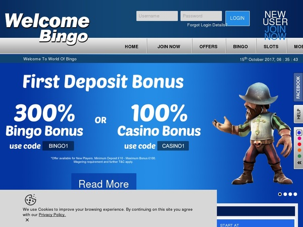 Welcome Bingo Mobile Deposit