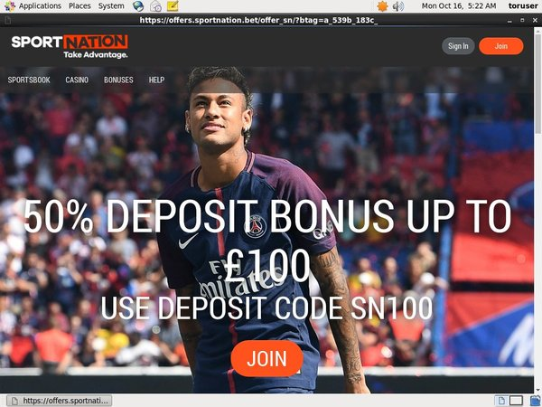 Welcome Bonus Sport Nation